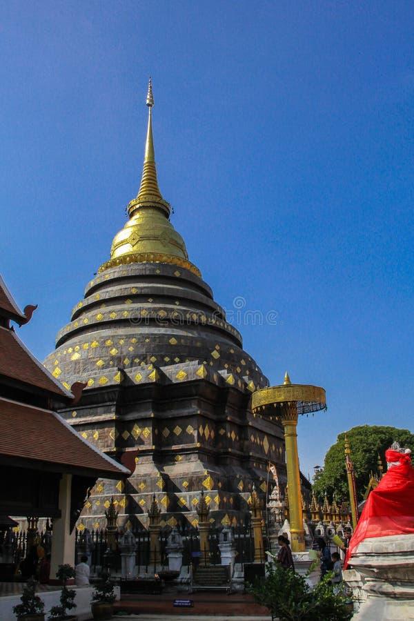 Χρυσό stupa στο lumpang στοκ φωτογραφίες με δικαίωμα ελεύθερης χρήσης
