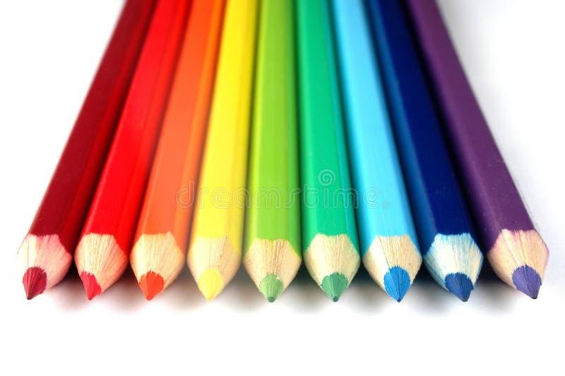 χρωμάτισε τα μολύβια στοκ εικόνα