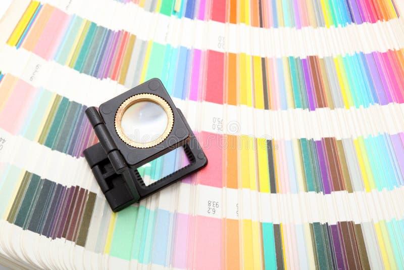 χρωματίζει loupe στοκ εικόνα