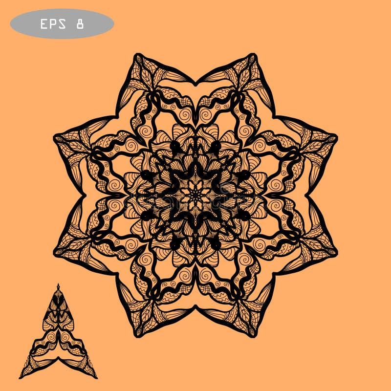 Χρωματίζοντας απεικόνιση Mandala για διανυσματική απεικόνιση