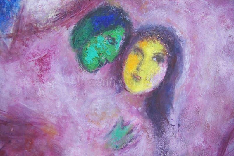 Χρωματίζοντας από Marc Chagall, μουσείο Marc Chagall, Νίκαια, Γαλλία στοκ φωτογραφία