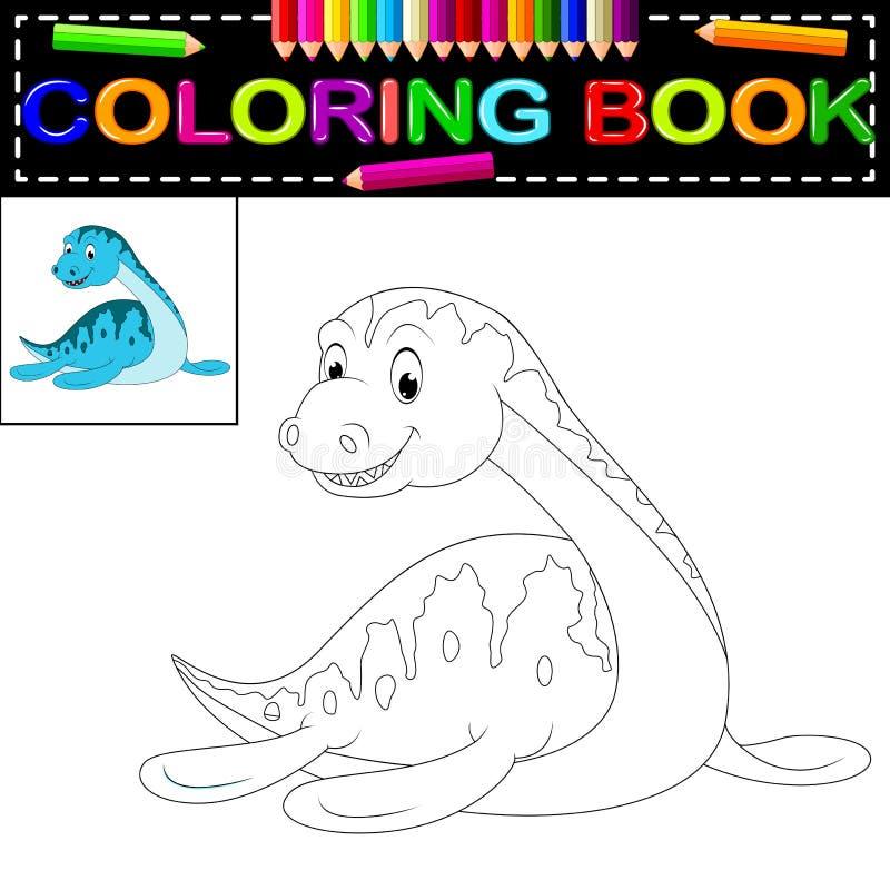 Χρωματίζοντας βιβλίο δεινοσαύρων απεικόνιση αποθεμάτων