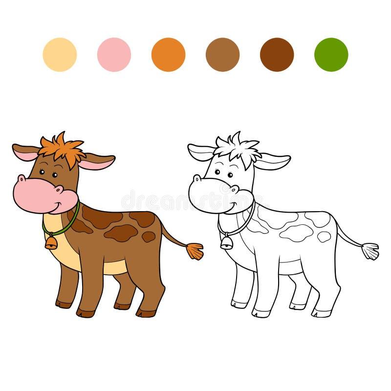 Χρωματίζοντας βιβλίο (μόσχος) απεικόνιση αποθεμάτων