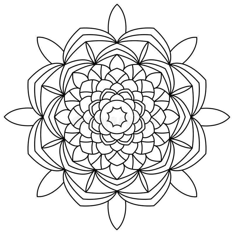 Χρωματίζοντας βιβλίο Mandala απεικόνιση αποθεμάτων