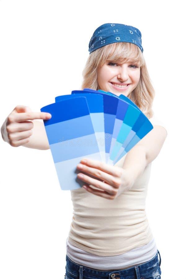 Χρωματίζοντας γυναίκα στοκ φωτογραφία με δικαίωμα ελεύθερης χρήσης