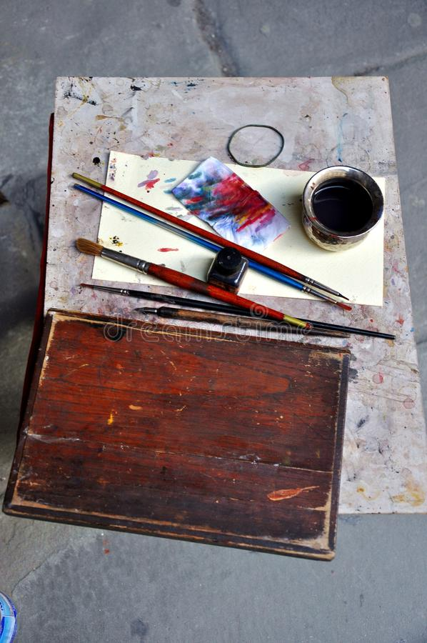χρωματίζοντας εργαλεία στοκ φωτογραφία με δικαίωμα ελεύθερης χρήσης