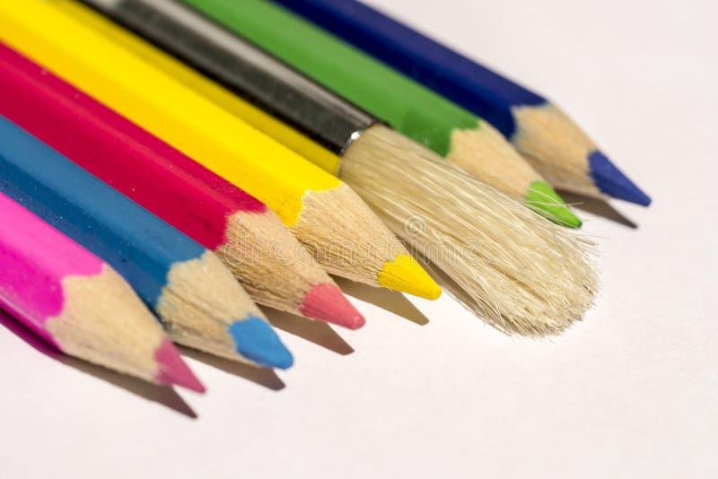 χρωματίζοντας εργαλεία στοκ εικόνες