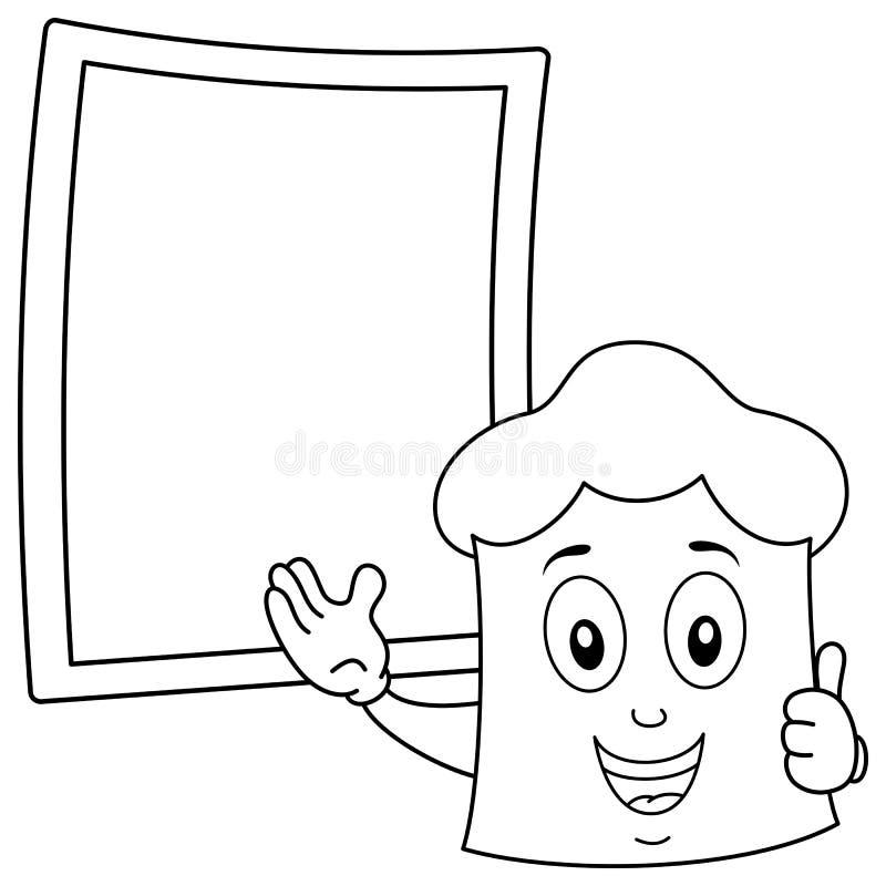 Χρωματίζοντας καπέλο αρχιμαγείρων & πίνακας συνταγής απεικόνιση αποθεμάτων