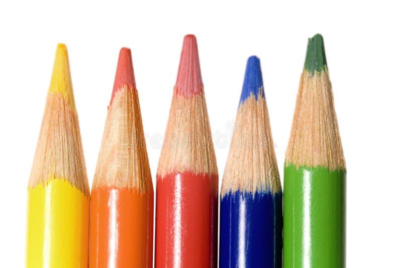 χρωματίζοντας μόλυβδοι στοκ εικόνες