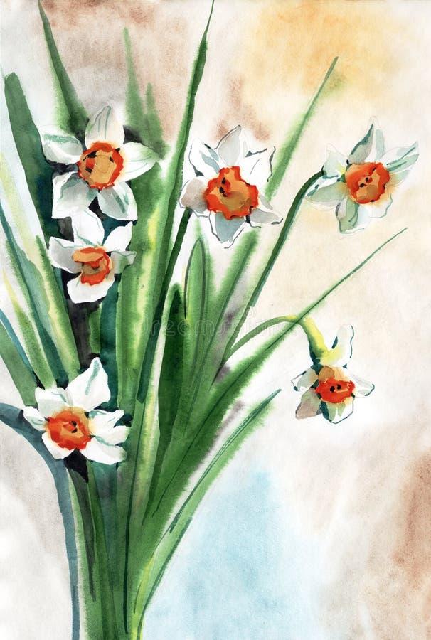 Χρωματίζοντας λουλούδια διανυσματική απεικόνιση