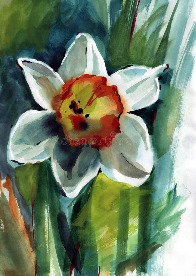 Χρωματίζοντας λουλούδια ελεύθερη απεικόνιση δικαιώματος