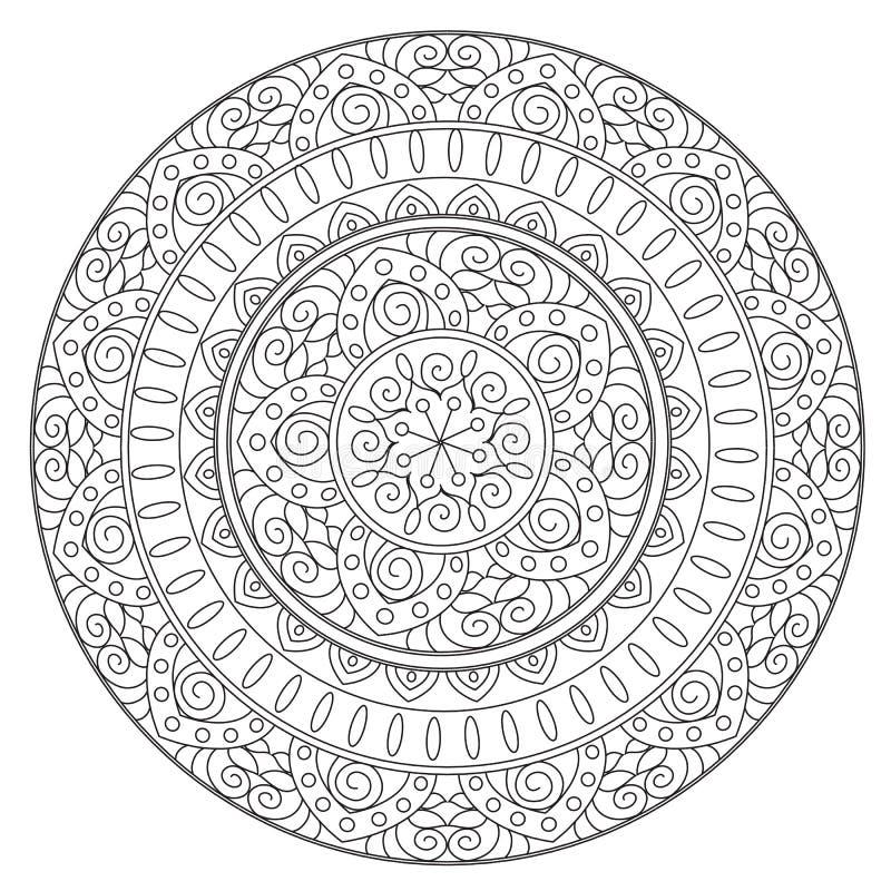 Χρωματίζοντας περίληψη εθνικό Mandala ελεύθερη απεικόνιση δικαιώματος