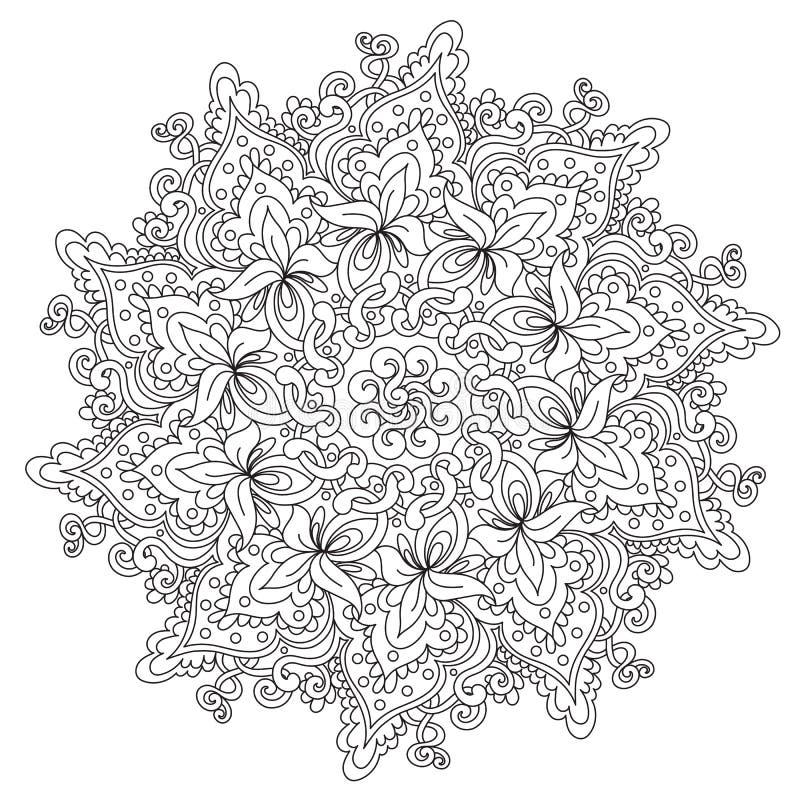 Χρωματίζοντας περίληψη εκλεκτής ποιότητας Mandala απεικόνιση αποθεμάτων