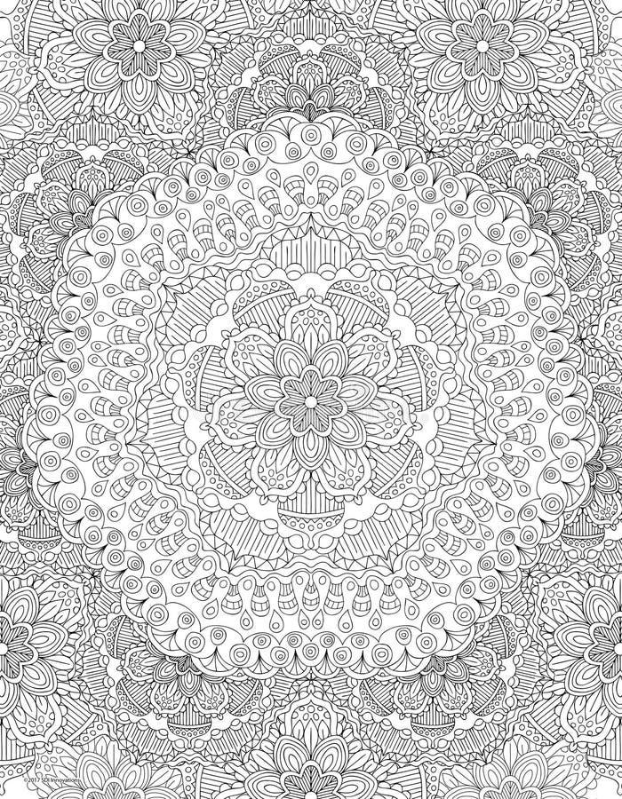 Χρωματίζοντας σελίδα βιβλίων Mandala στοκ εικόνες με δικαίωμα ελεύθερης χρήσης