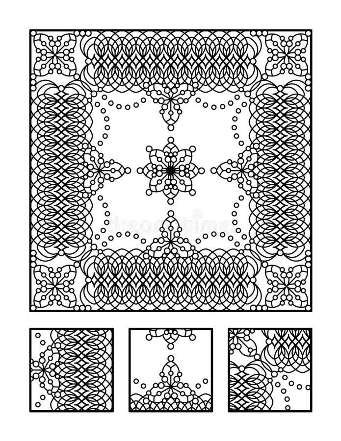 Χρωματίζοντας σελίδα και οπτικός γρίφος για τους ενηλίκους διανυσματική απεικόνιση