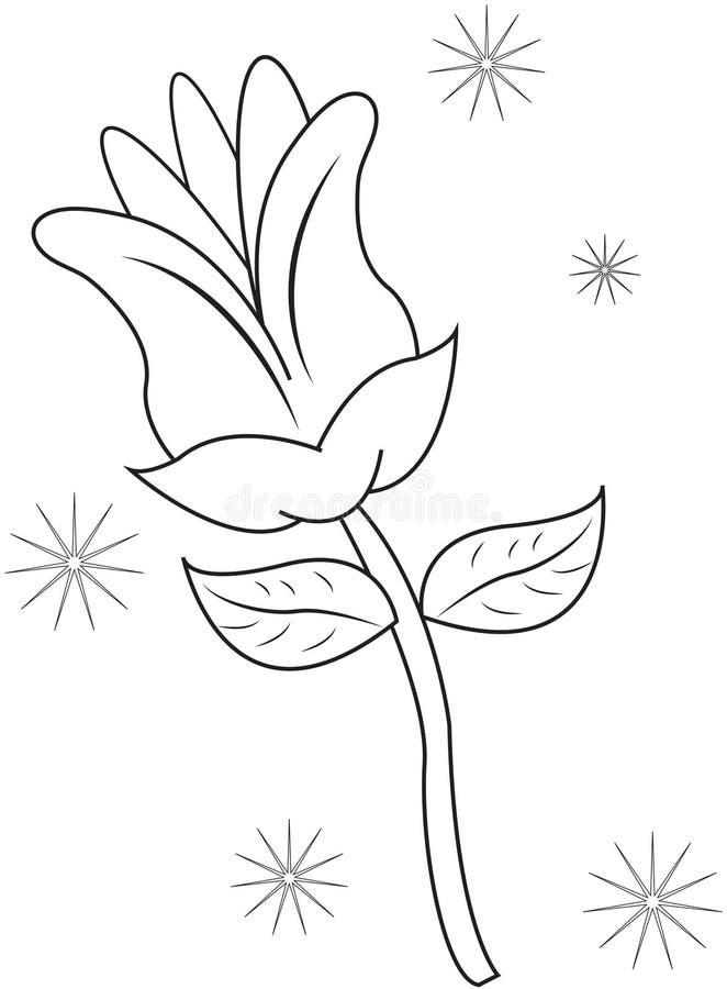 Χρωματίζοντας σελίδα λουλουδιών απεικόνιση αποθεμάτων