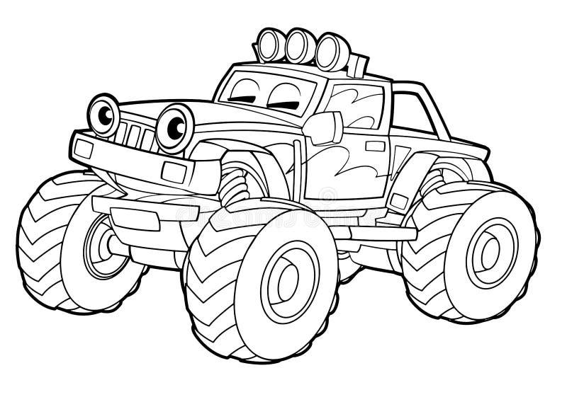 Χρωματίζοντας σελίδα - όχημα - απεικόνιση για τα παιδιά απεικόνιση αποθεμάτων