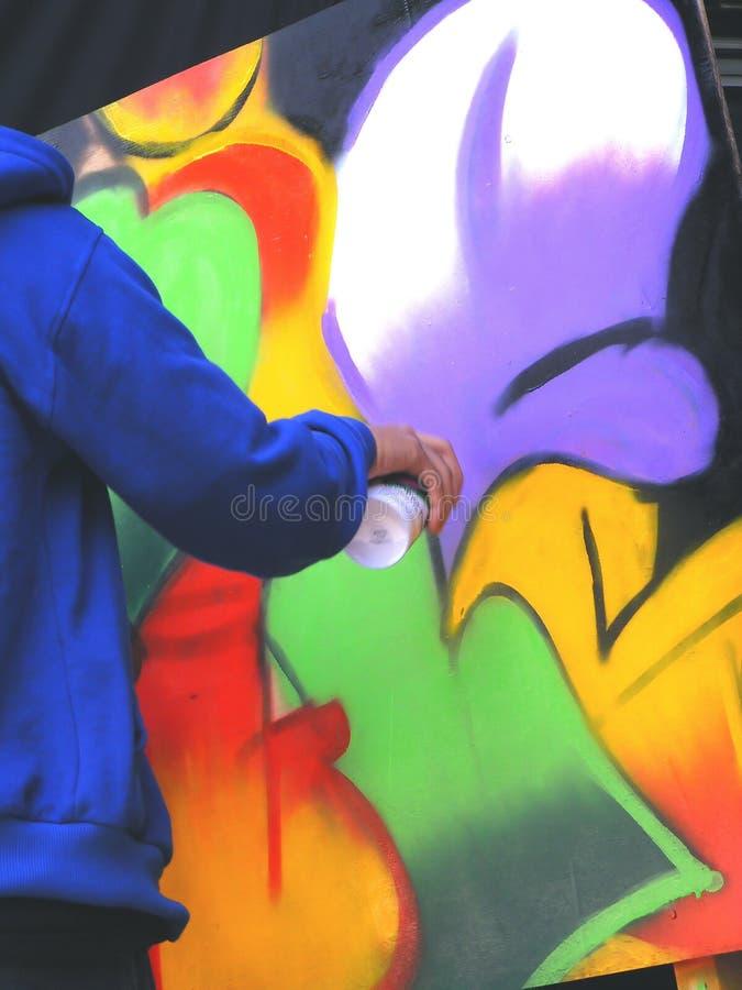 χρωματίζοντας τοίχος στοκ φωτογραφία με δικαίωμα ελεύθερης χρήσης