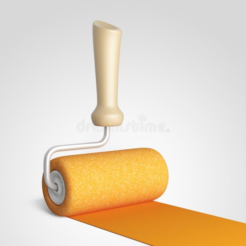 Χρωματίζοντας δωμάτιο σπιτιών Σπίτι ανακαίνισης τρισδιάστατο εικονίδιο απεικόνιση αποθεμάτων