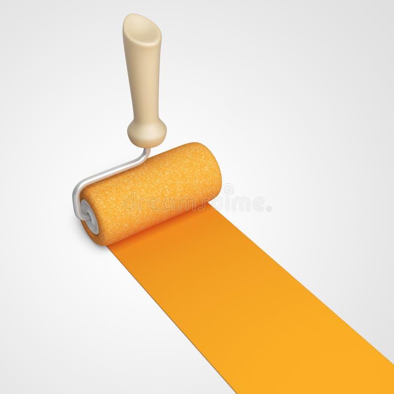 Χρωματίζοντας δωμάτιο σπιτιών Σπίτι ανακαίνισης τρισδιάστατο εικονίδιο διανυσματική απεικόνιση