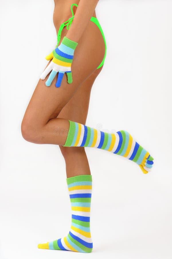 χρωματίστε τις κάλτσες στοκ φωτογραφία