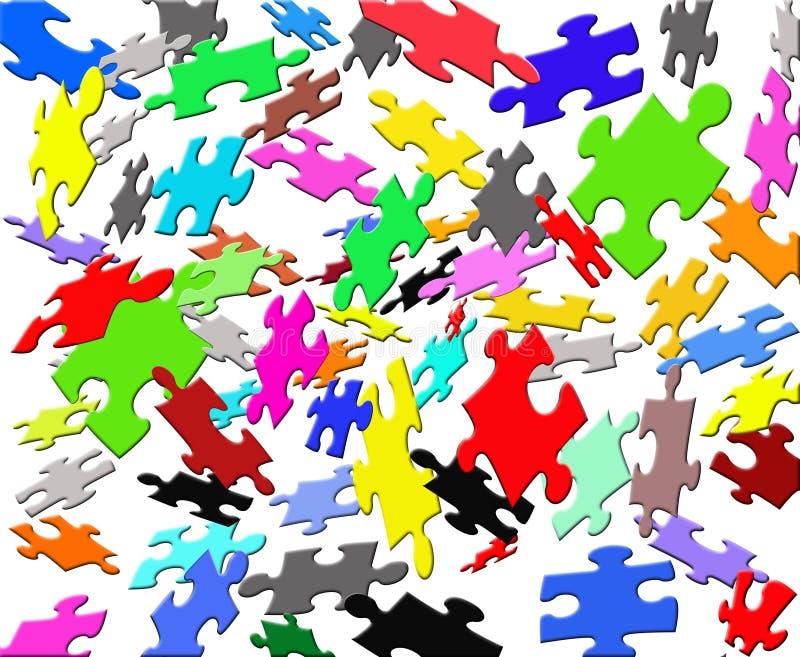 χρωματίστε τους πετώντας γρίφους διανυσματική απεικόνιση