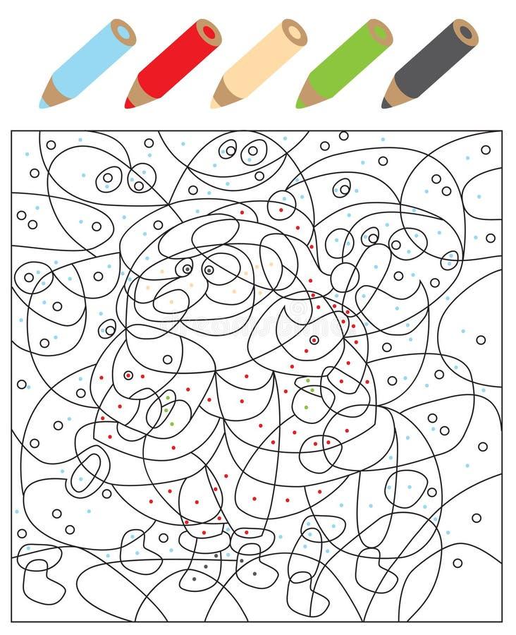 Χρωματίστε το οπτικό παιχνίδι σημείων διανυσματική απεικόνιση