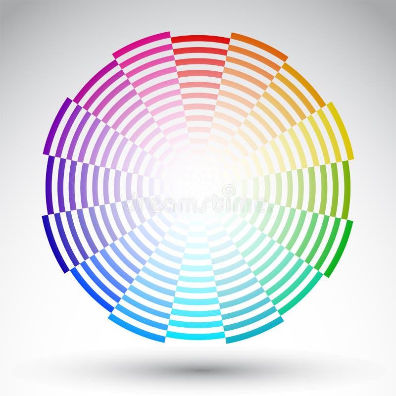 Χρωματικός κύκλος - διανυσματικό σχέδιο ροδών χρώματος απεικόνιση αποθεμάτων