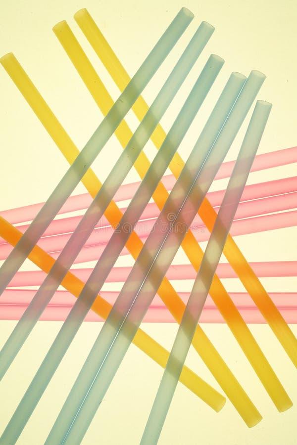 χρωματισμένα άχυρα κρητιδογραφιών στοκ εικόνα με δικαίωμα ελεύθερης χρήσης