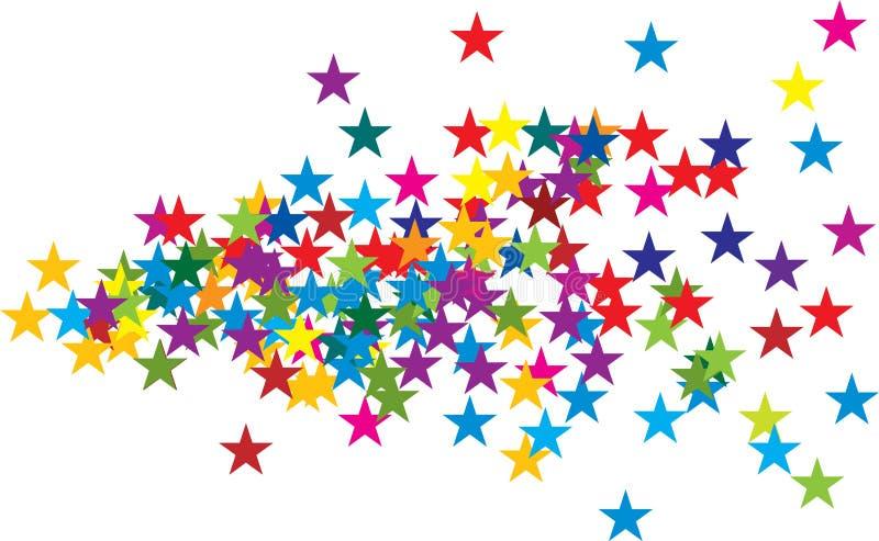 χρωματισμένα αστέρια ελεύθερη απεικόνιση δικαιώματος