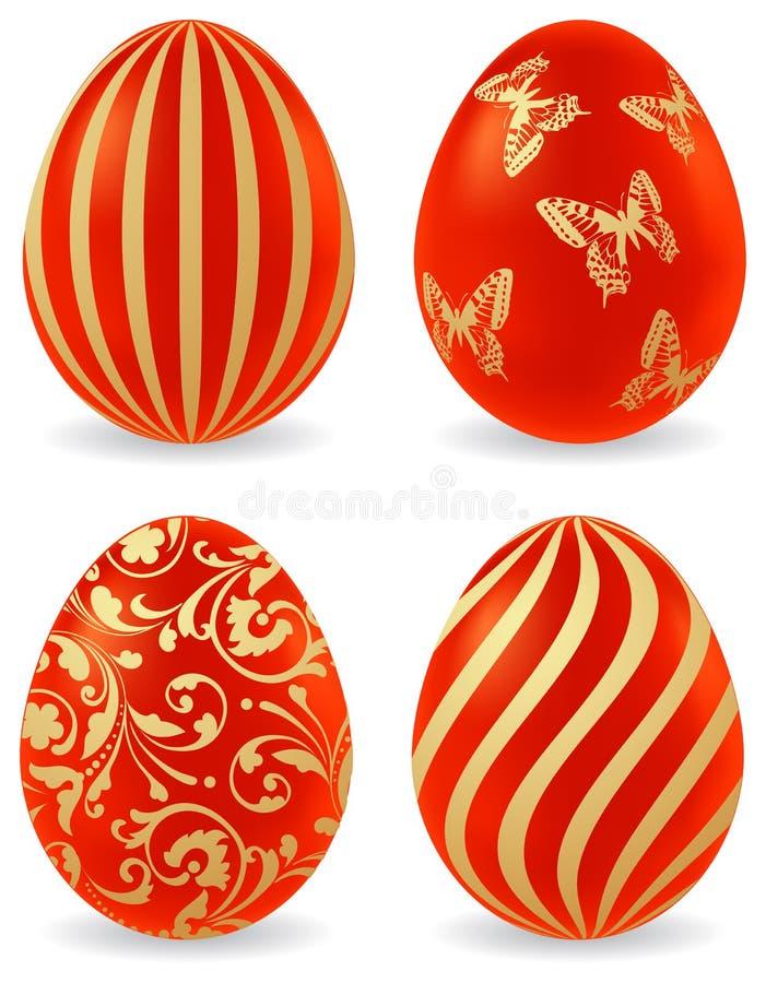 χρωματισμένα αυγά Πάσχας απεικόνιση αποθεμάτων