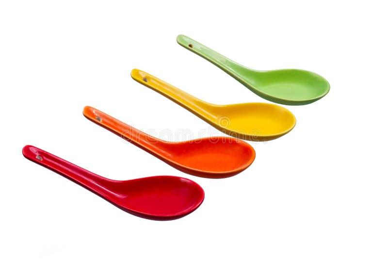 Χρωματισμένα κουτάλια στοκ φωτογραφίες με δικαίωμα ελεύθερης χρήσης