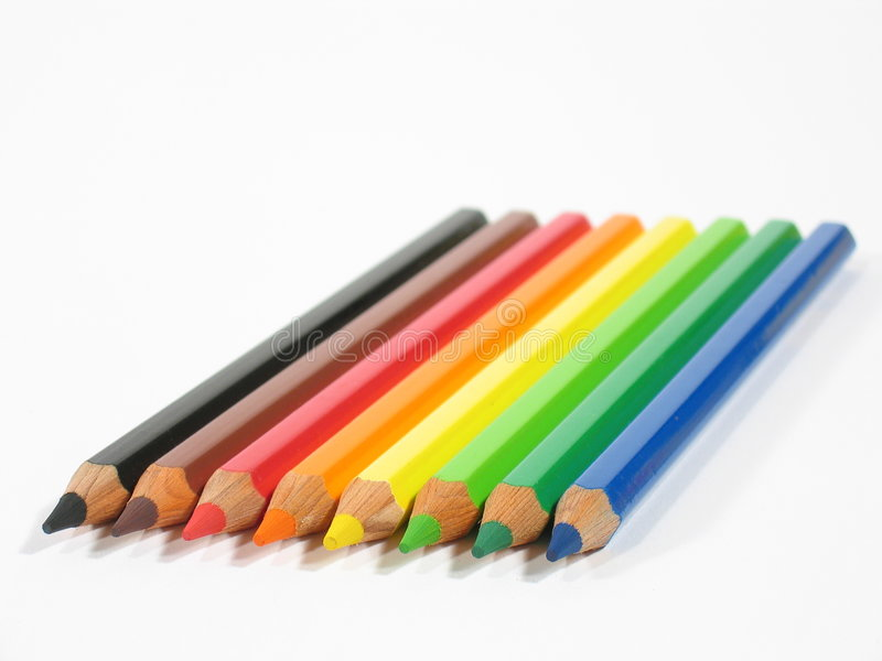 χρωματισμένα κραγιόνια ΙΙ Στοκ Φωτογραφία