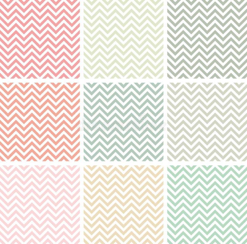 Χρωματισμένα κρητιδογραφία σχέδια σιριτιών απεικόνιση αποθεμάτων