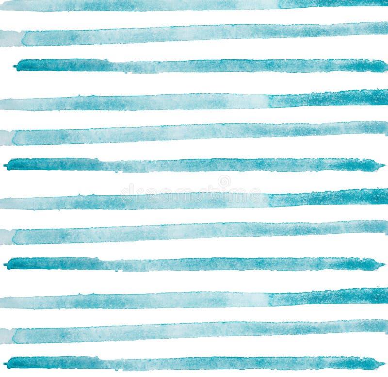 Χρωματισμένα κτυπήματα βουρτσών Watercolor χέρι, γραμμή, εμβλήματα η ανασκόπηση απομόνωσε το λευκό διανυσματική απεικόνιση