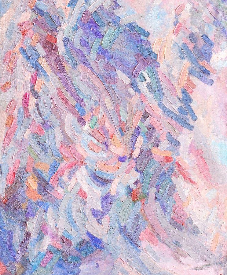 Χρωματισμένα κτυπήματα ελαιοχρωμάτων ελεύθερη απεικόνιση δικαιώματος