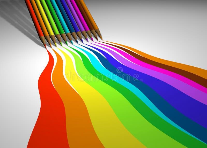 Download χρωματισμένα μολύβια απεικόνιση αποθεμάτων. εικονογραφία από σύρετε - 387556