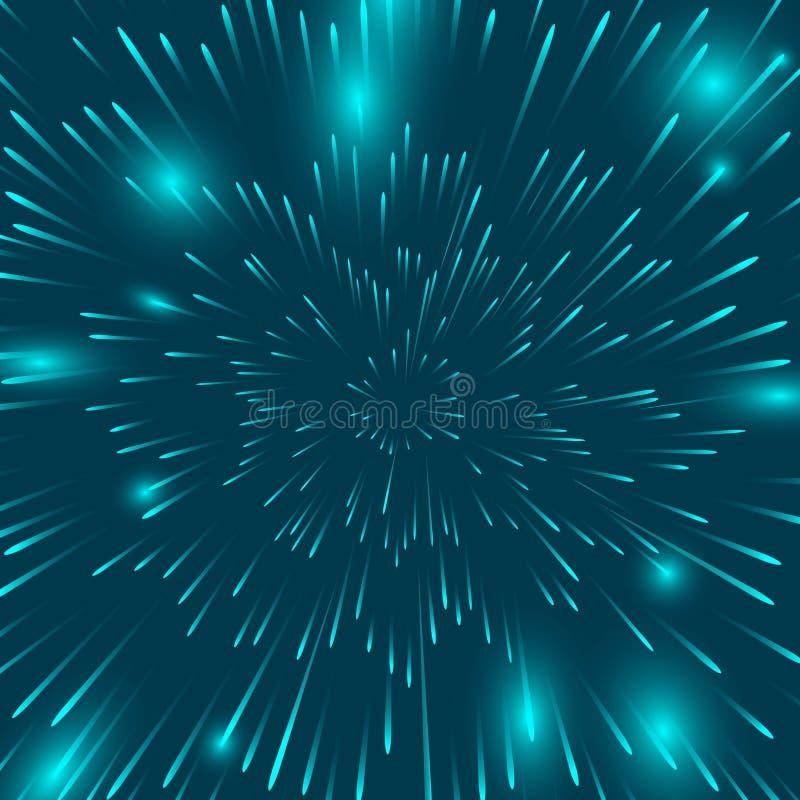 χρωματισμένα πυροτεχνήματα στο μαύρο υπόβαθρο το υπόβαθρο του φωτεινού β διανυσματική απεικόνιση