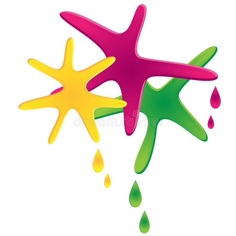 Χρωματισμένα σημεία και πτώσεις ελεύθερη απεικόνιση δικαιώματος