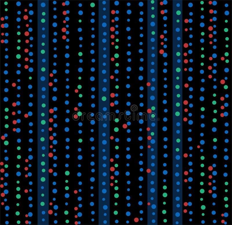 Χρωματισμένα σημεία, φω'τα, άνευ ραφής υπόβαθρο, περίληψη, ο Μαύρος, διάνυσμα απεικόνιση αποθεμάτων