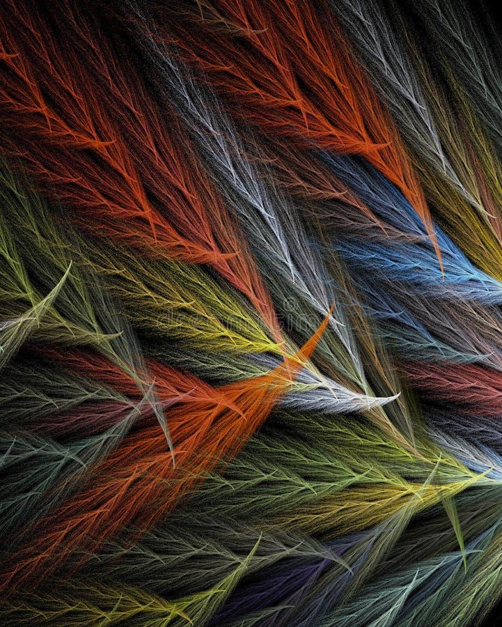 χρωματισμένα φτερά πολυ στοκ εικόνα