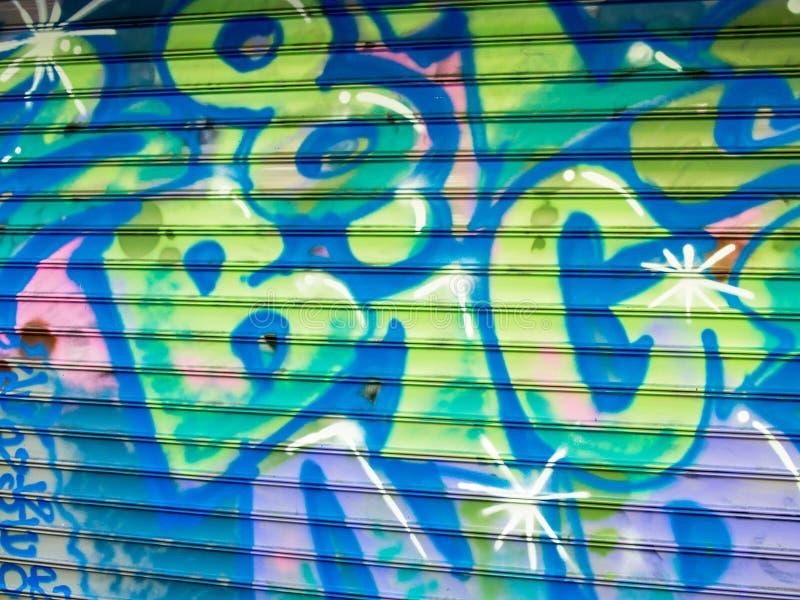 Χρωματισμένα ψεκασμός γκράφιτι, συλλαβισμός μεγάλος στοκ φωτογραφίες με δικαίωμα ελεύθερης χρήσης