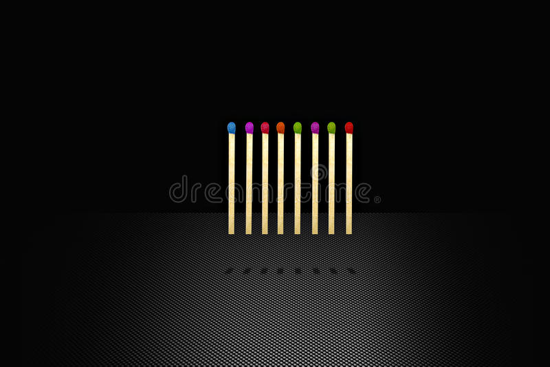 χρωματισμένες αντιστοιχί&e διανυσματική απεικόνιση