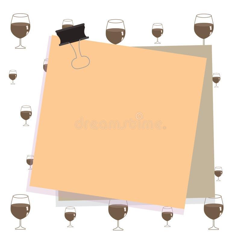 Χρωματισμένες δύο έγγραφο οι σημειώσεις που κολλιούνται από έναν μαύρο σύνδεσμο ψαλιδίζουν στο ζωηρόχρωμο υπόβαθρο Κενό υπόμνημα  ελεύθερη απεικόνιση δικαιώματος