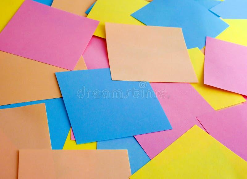 χρωματισμένες επιχείρηση αυτοκόλλητες ετικέττες στοκ εικόνες με δικαίωμα ελεύθερης χρήσης