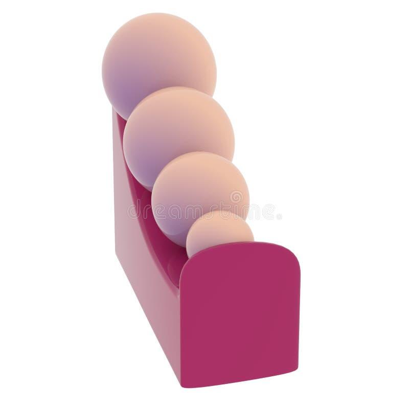 Χρωματισμένες ελεφαντόδοντο σφαίρες σε μια κλίση διανυσματική απεικόνιση