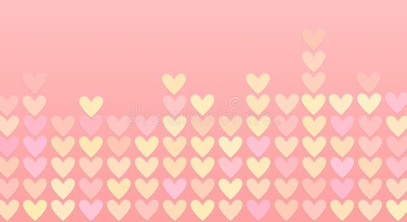 Χρωματισμένες καρδιές σε ένα μωσαϊκό διανυσματική απεικόνιση