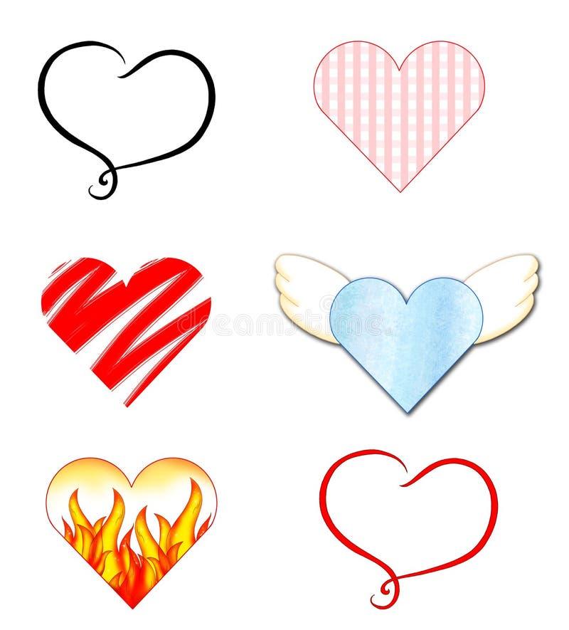 χρωματισμένες καρδιές ελεύθερη απεικόνιση δικαιώματος