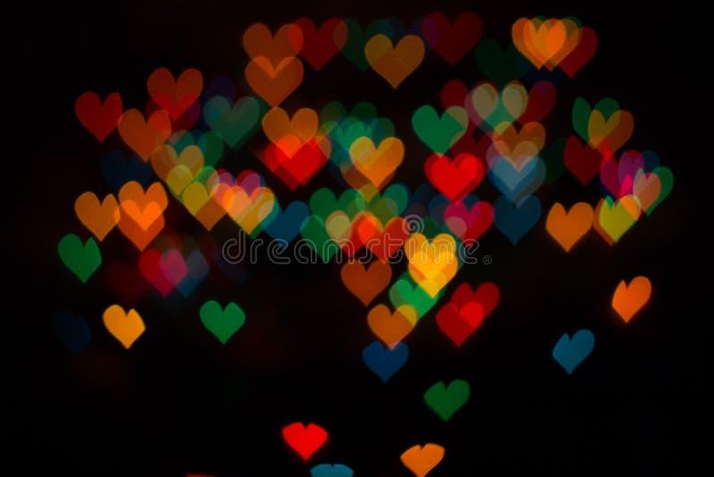 χρωματισμένες καρδιές στοκ εικόνες με δικαίωμα ελεύθερης χρήσης
