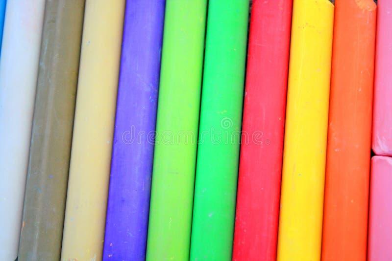 Χρωματισμένες κιμωλίες στοκ εικόνα με δικαίωμα ελεύθερης χρήσης